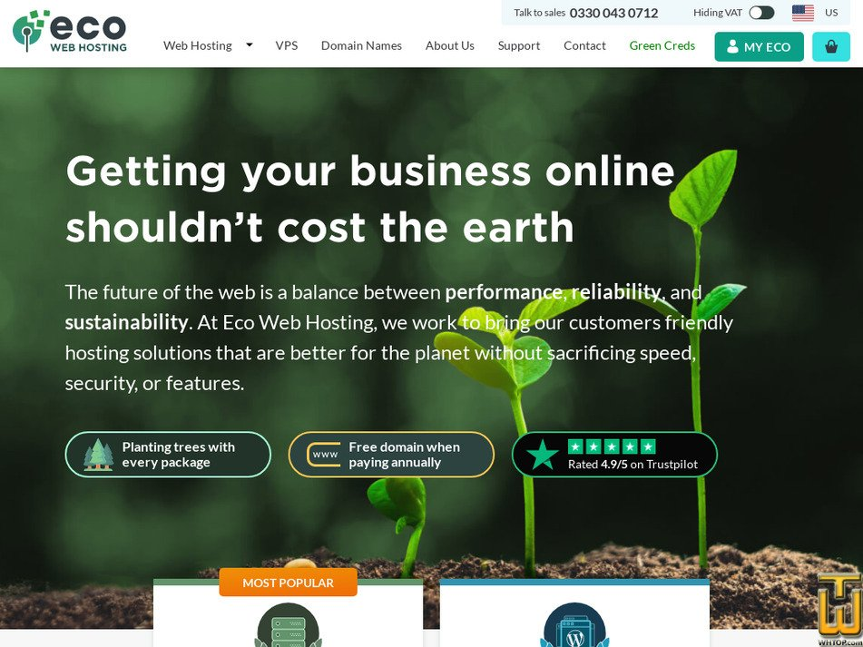ecowebhosting.co.uk Screenshot