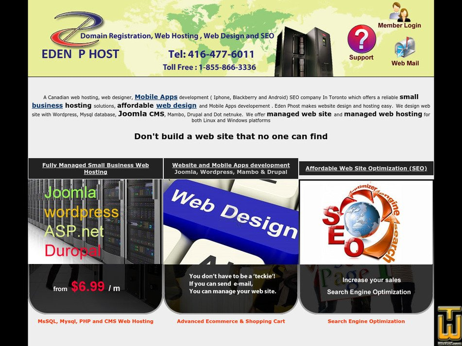 edenphost.com Screenshot