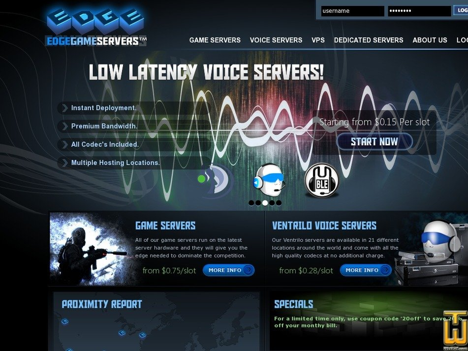 edgegameservers.com Screenshot