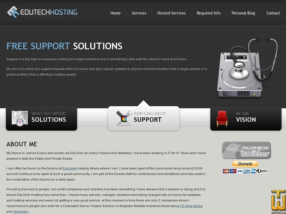 edutechhosting.co.uk Screenshot