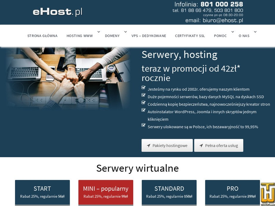 ehost.pl Screenshot