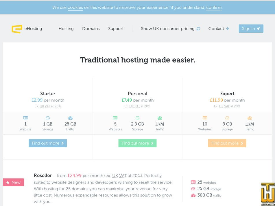 ehosting.com Screenshot