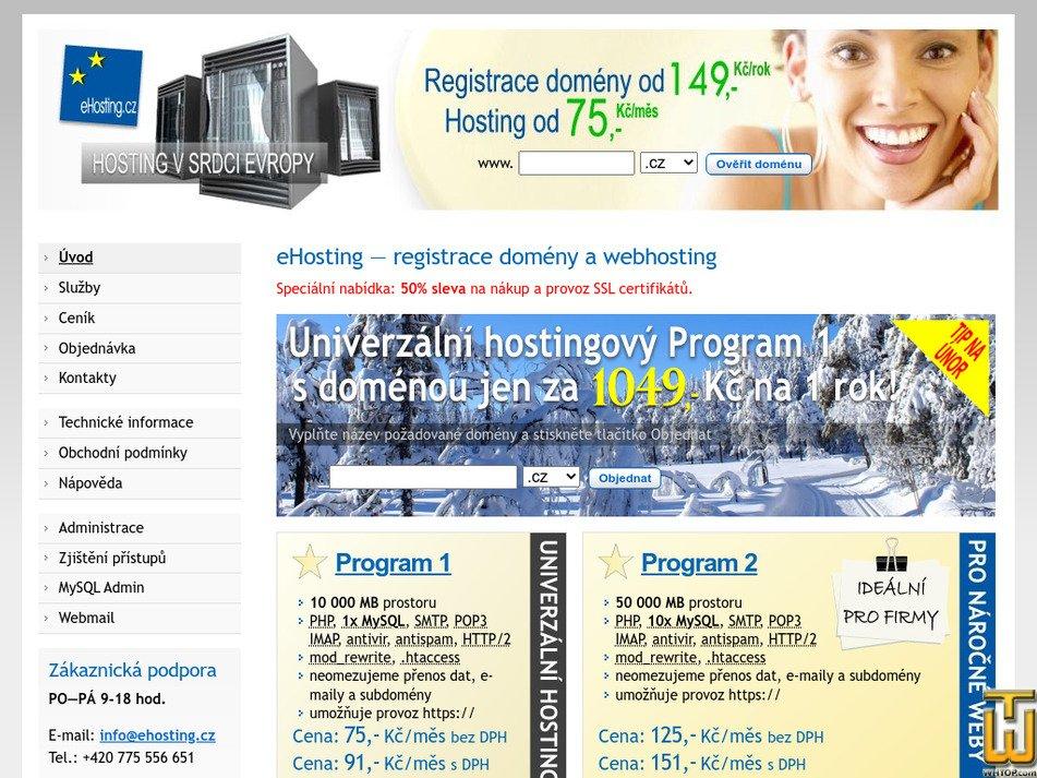 ehosting.cz Screenshot