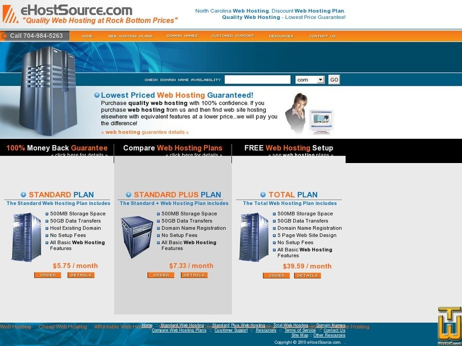ehostsource.com Screenshot