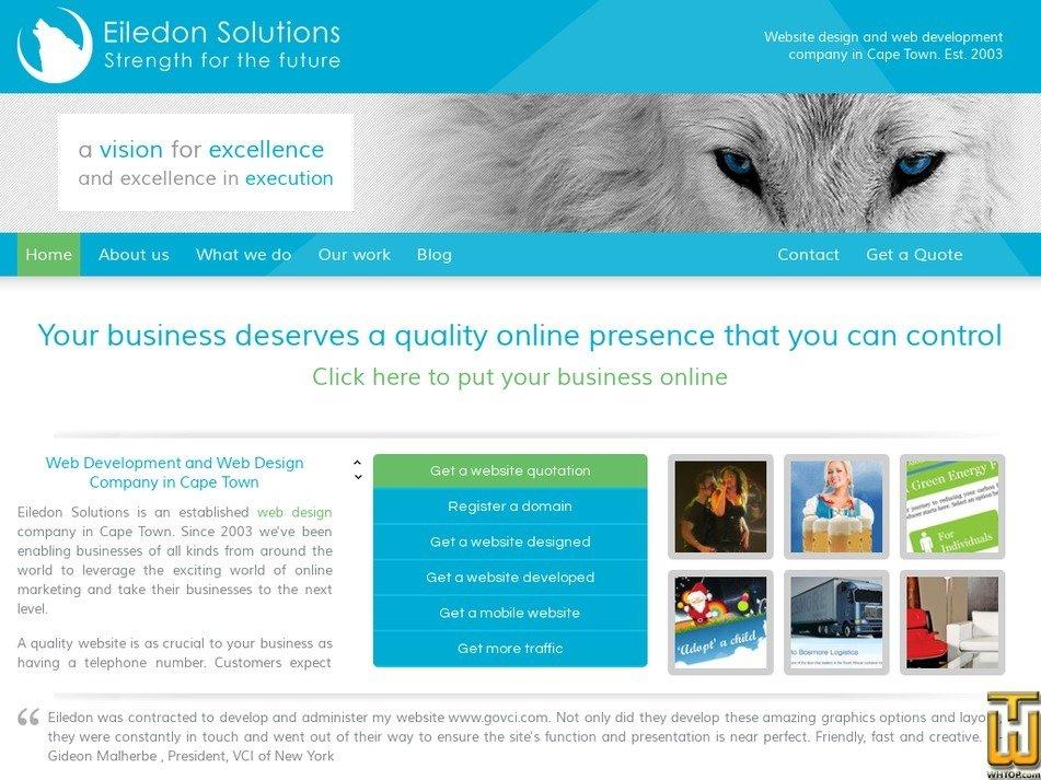 eiledon.co.za Screenshot