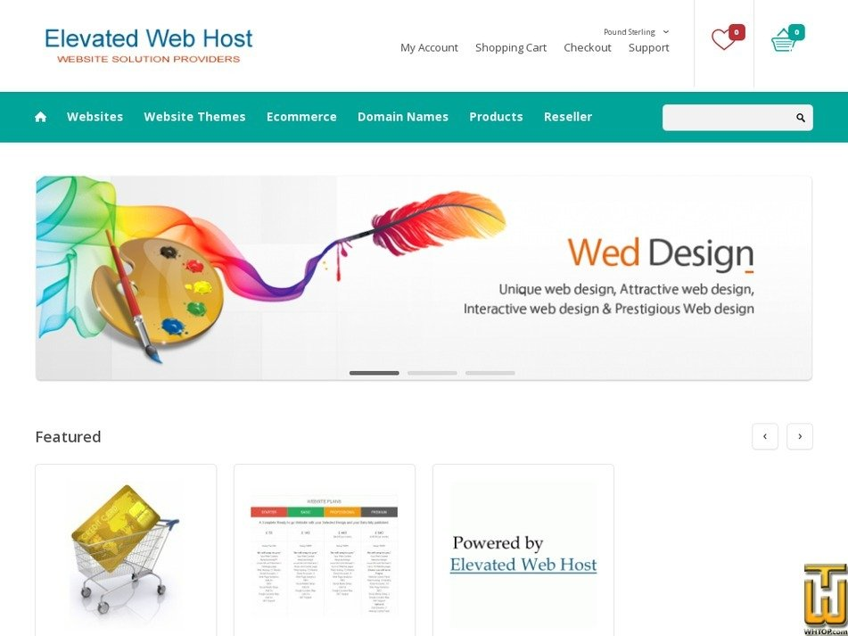 elevatedwebhost.com Screenshot