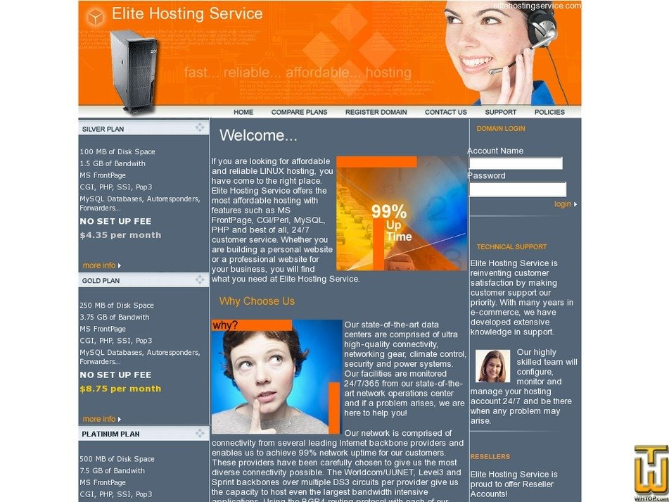 elitehostingservice.com Screenshot