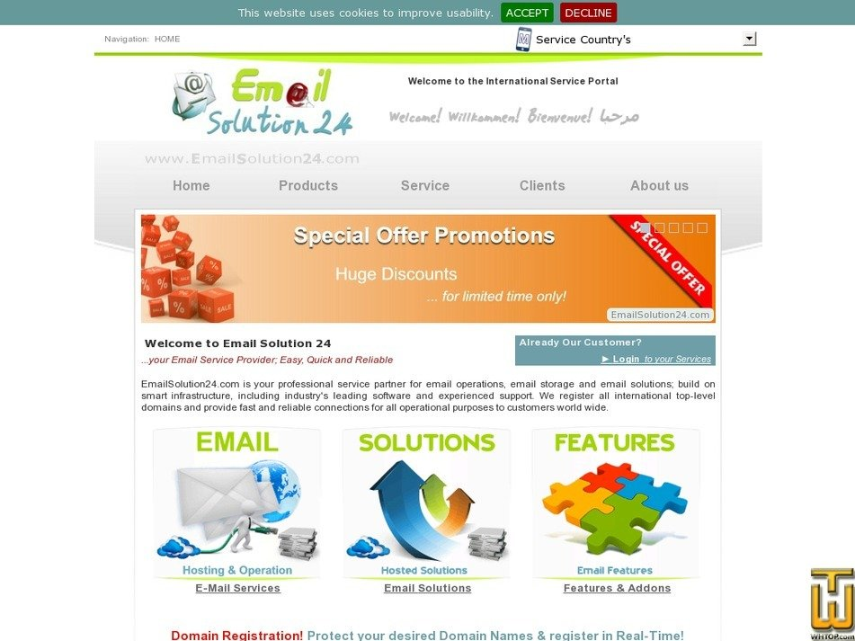 emailsolution24.com Screenshot