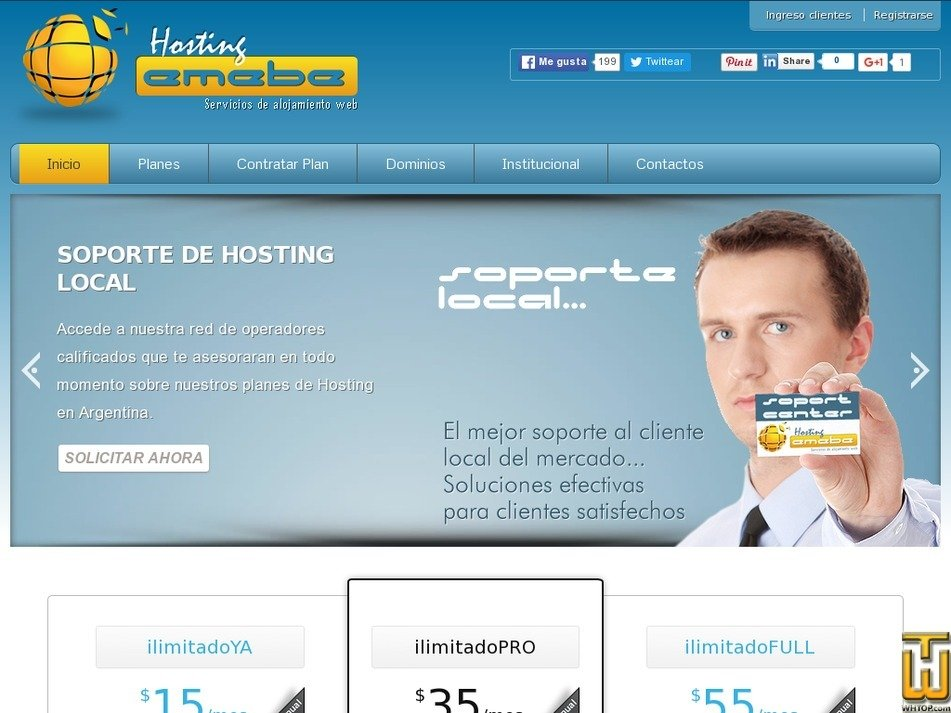 emebehosting.com.ar Screenshot