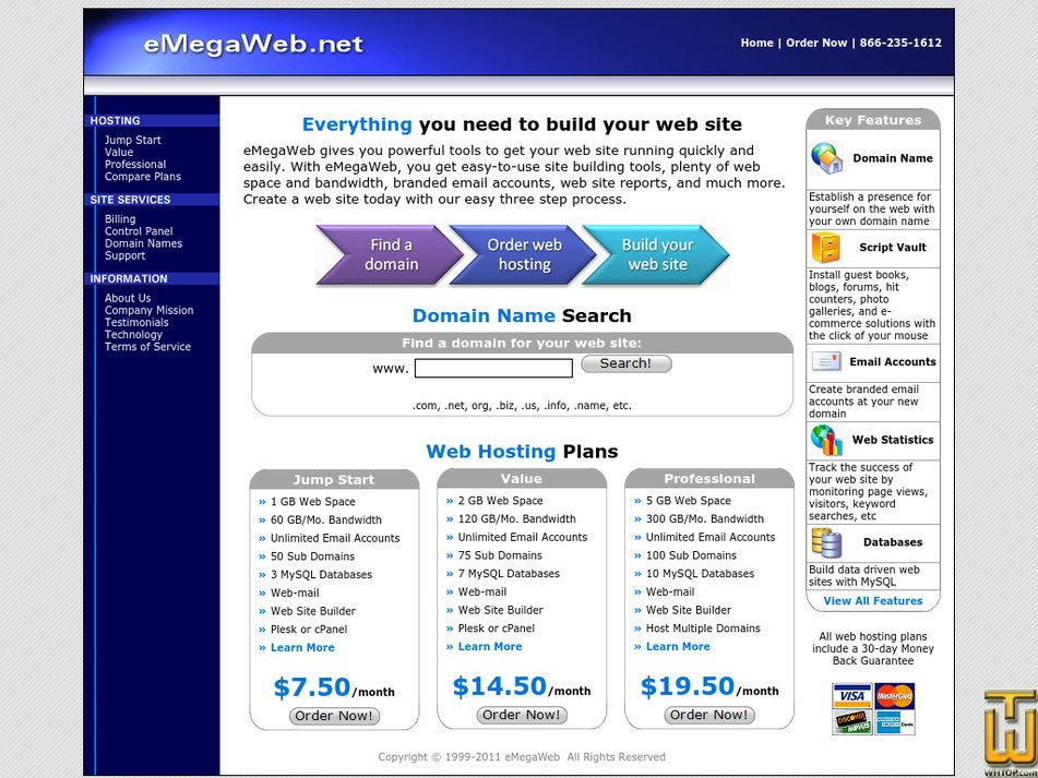 emegaweb.net Screenshot