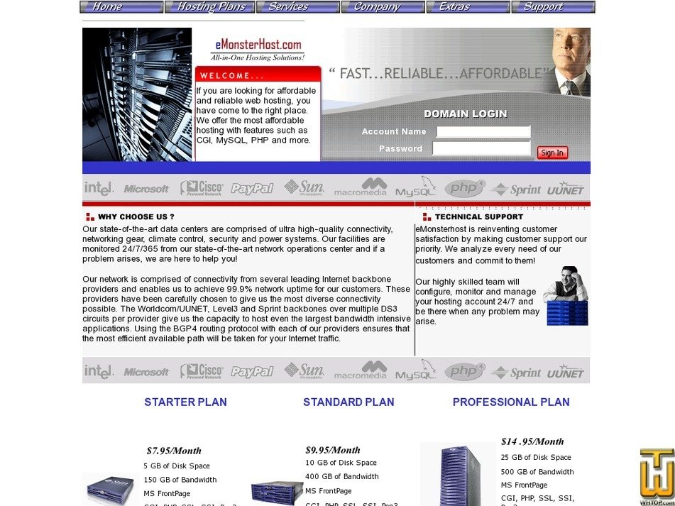 emonsterhost.com Screenshot