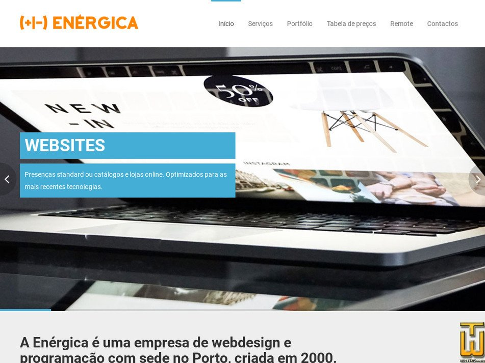 energica.com.pt Screenshot