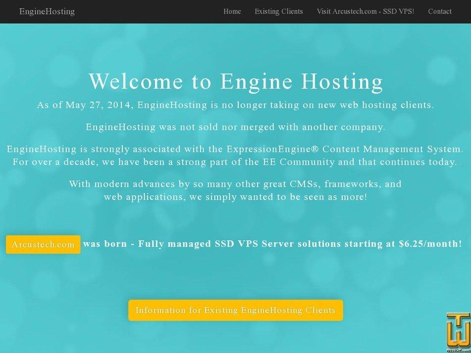 enginehosting.com Screenshot
