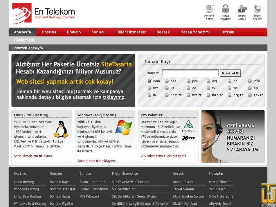 entelekom.com.tr Screenshot