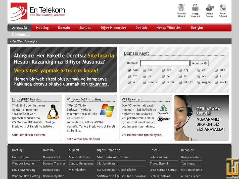 entelekom.com.tr Screenshot