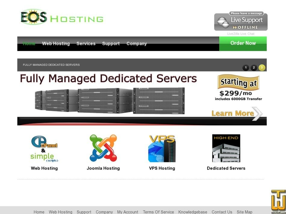 eoshosting.com Screenshot