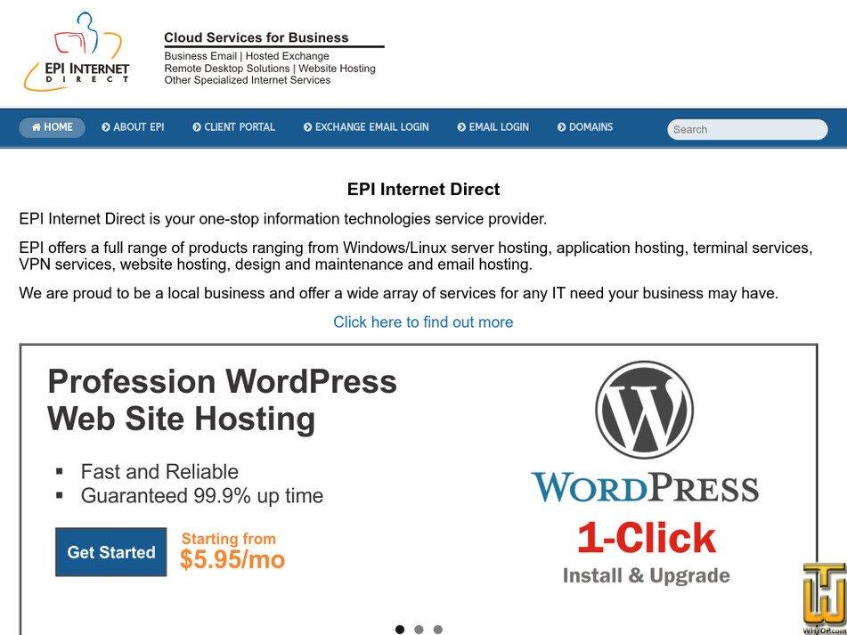epidirect.com Screenshot