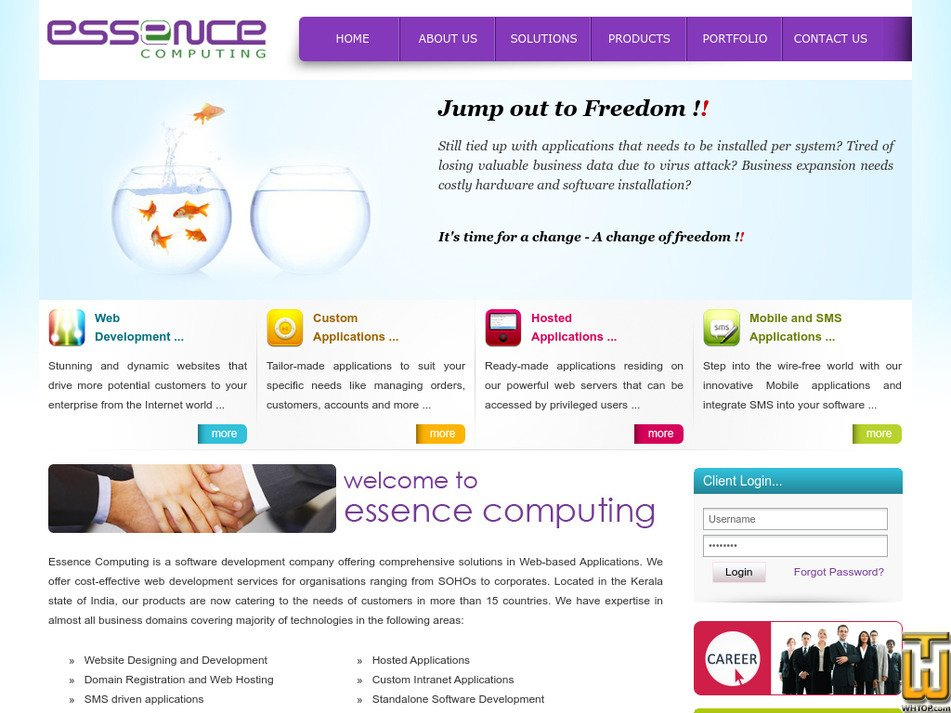 essencecomputing.com Screenshot