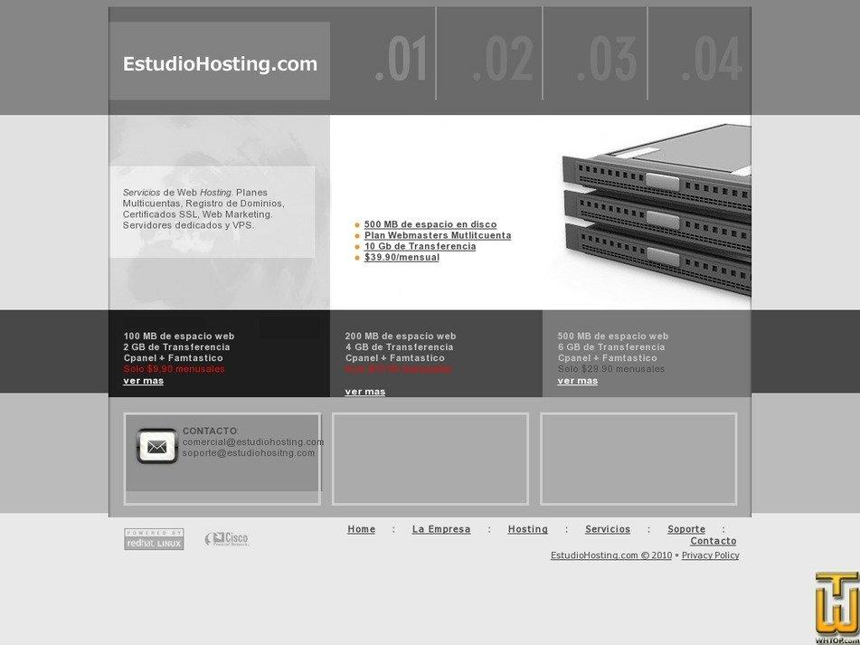 estudiohosting.com Screenshot