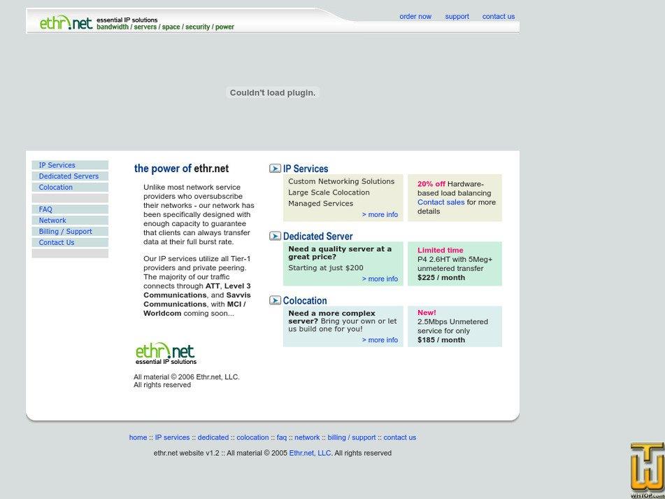 ethr.net Screenshot