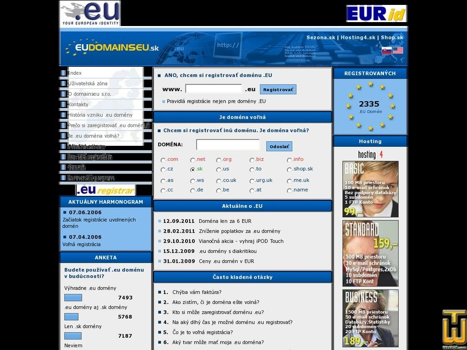 eudomains.sk Screenshot