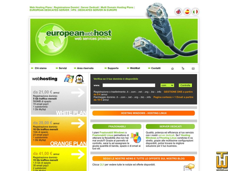europeanwebhost.com Screenshot