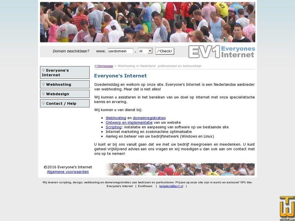 ev1.nl Screenshot
