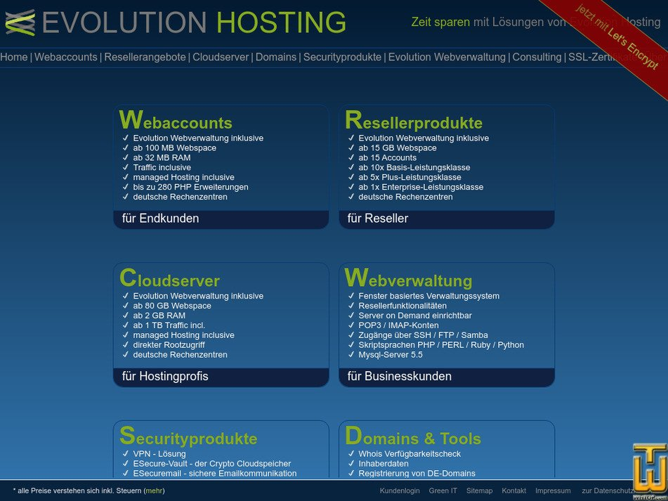 evolution-hosting.eu Screenshot