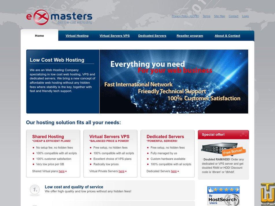 exmasters.com Screenshot