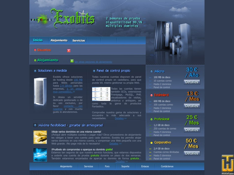 exobits.net Screenshot