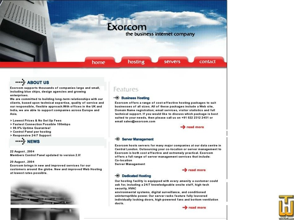 exorcom.com Screenshot