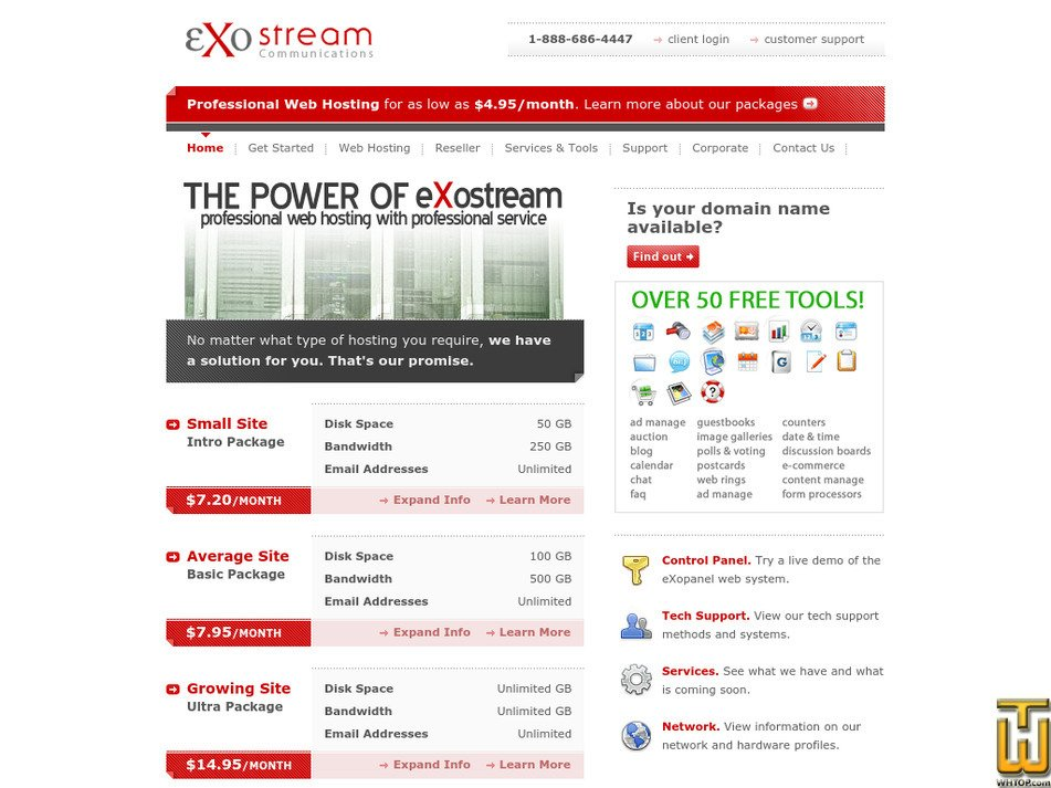 exostream.com Screenshot
