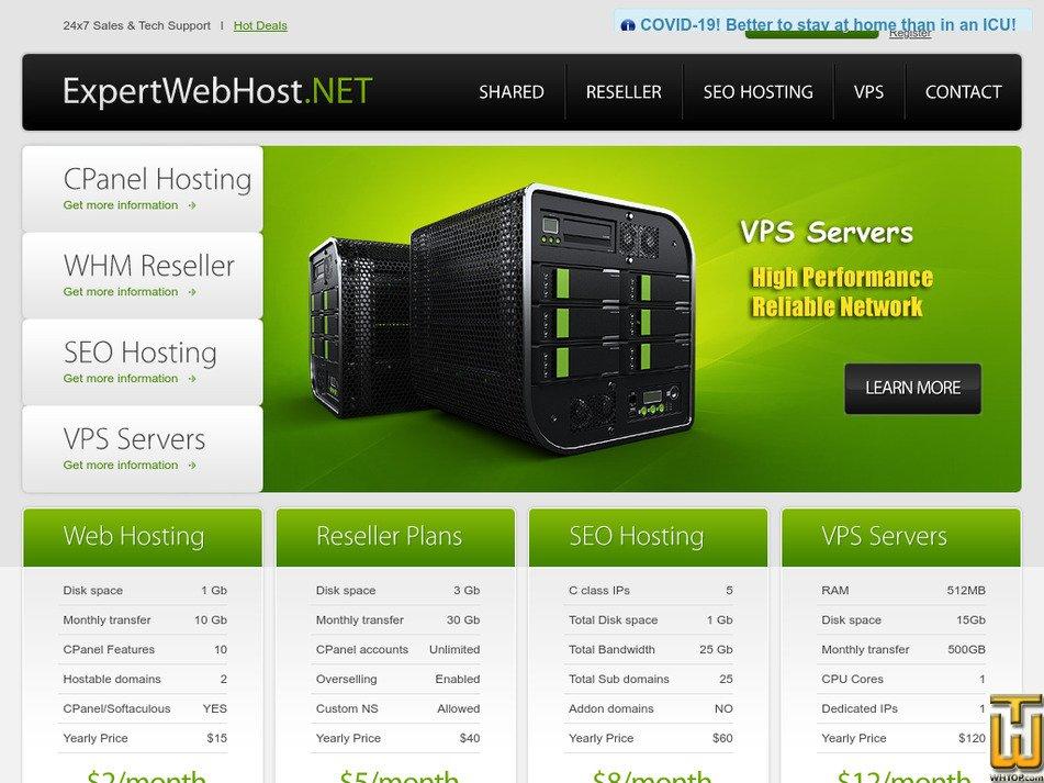 expertwebhost.net Screenshot