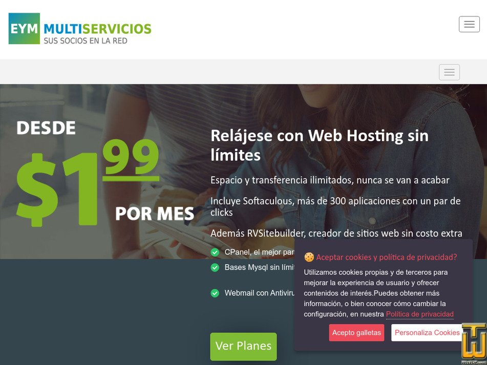 eym-multiservicios.com Screenshot