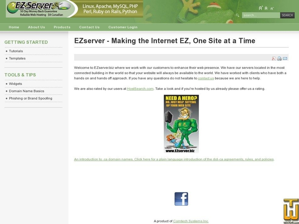 ezserver.biz Screenshot