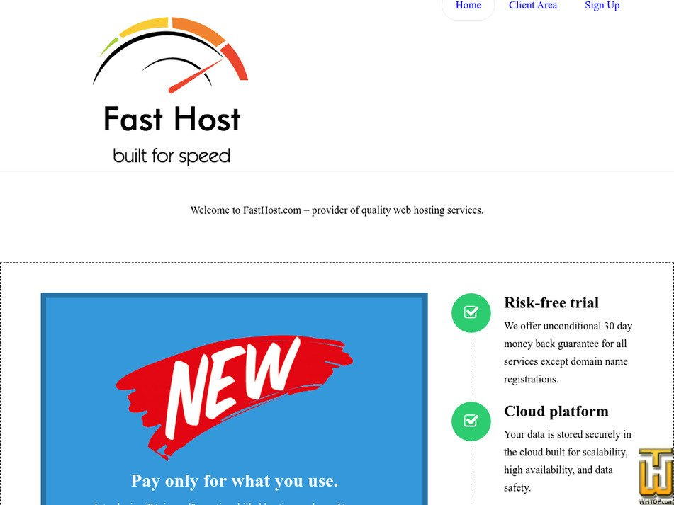 fasthost.com Screenshot