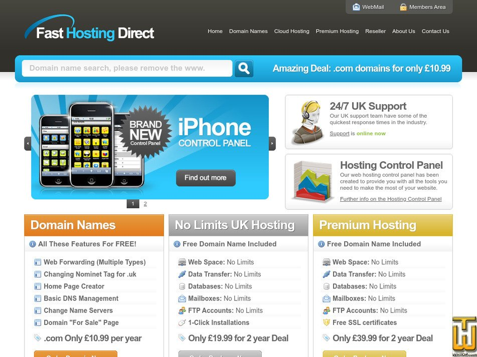 fasthostingdirect.co.uk Screenshot