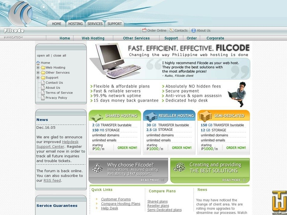 filcode.com Screenshot
