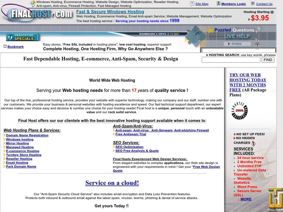 finalhost.com Screenshot