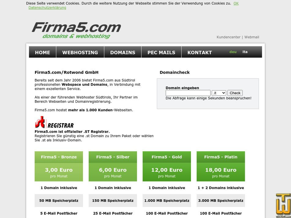 firma5.com Screenshot