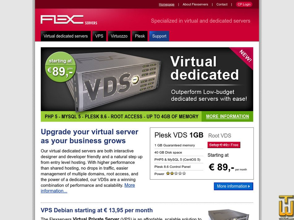 flexservers.com Screenshot