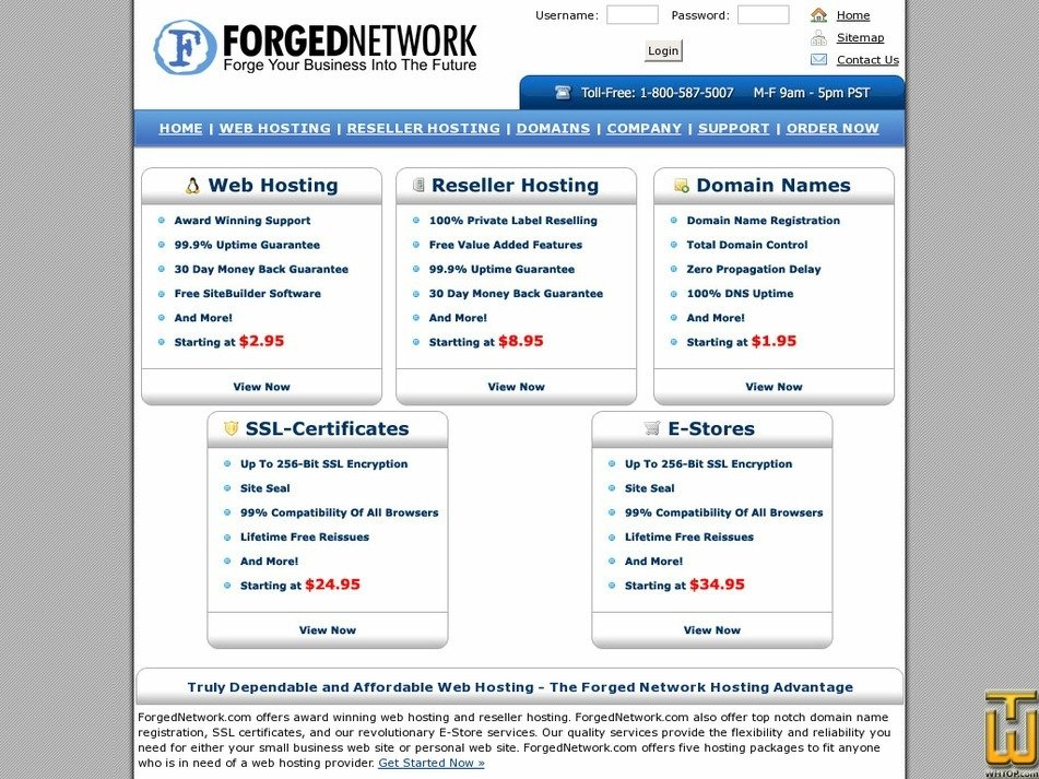 forgednetwork.com Screenshot