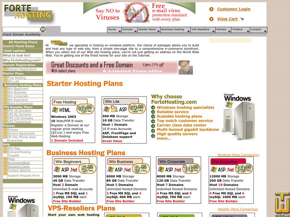 fortehosting.com Screenshot