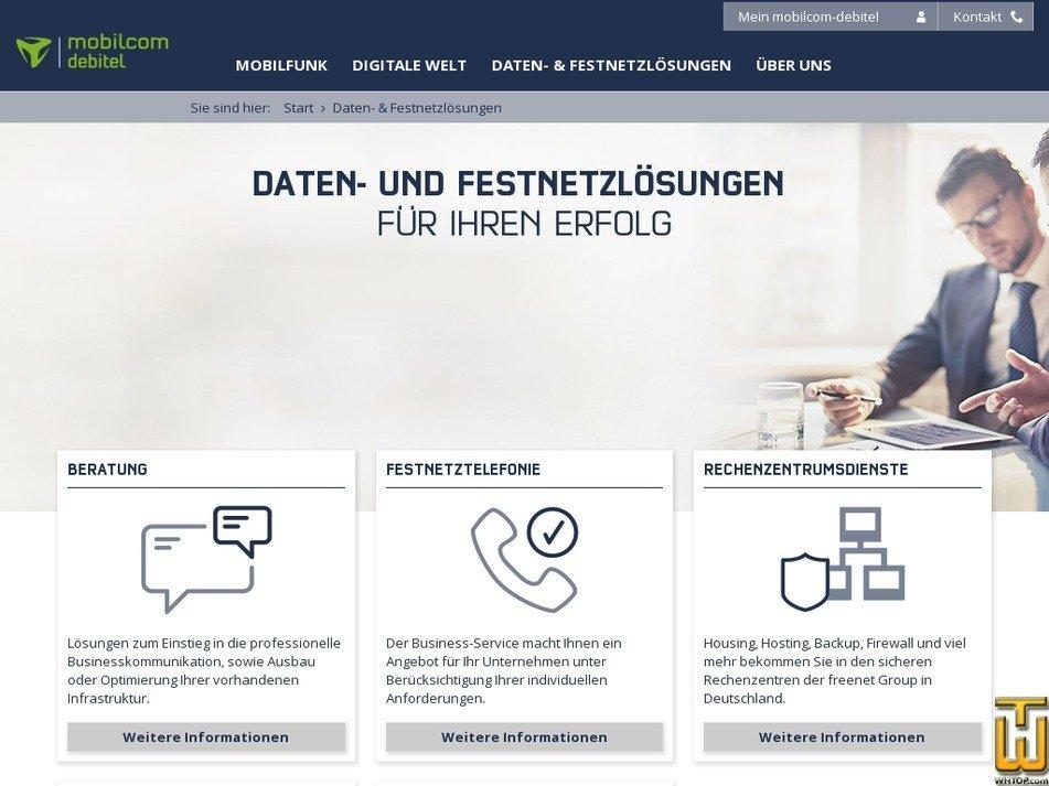 freenet-business.de Screenshot