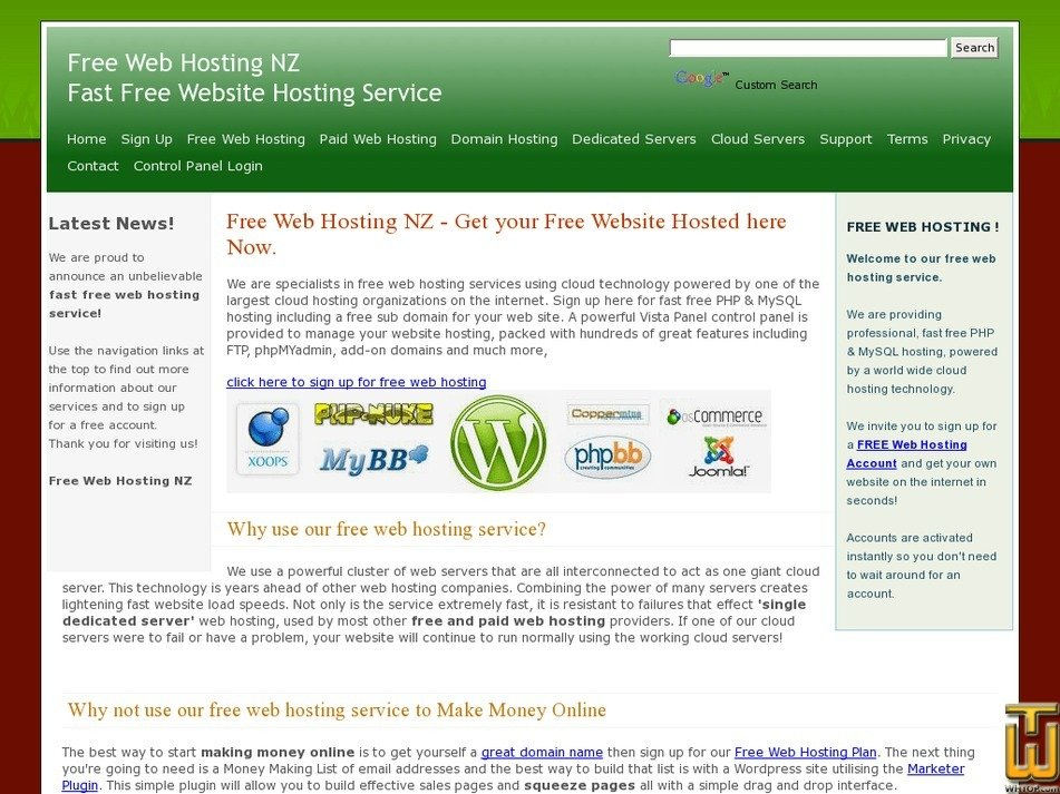 freewebhost.co.nz Screenshot