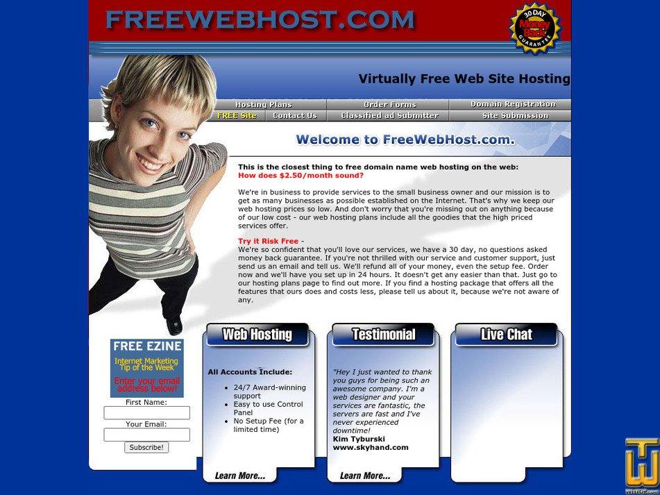 freewebhost.com Screenshot