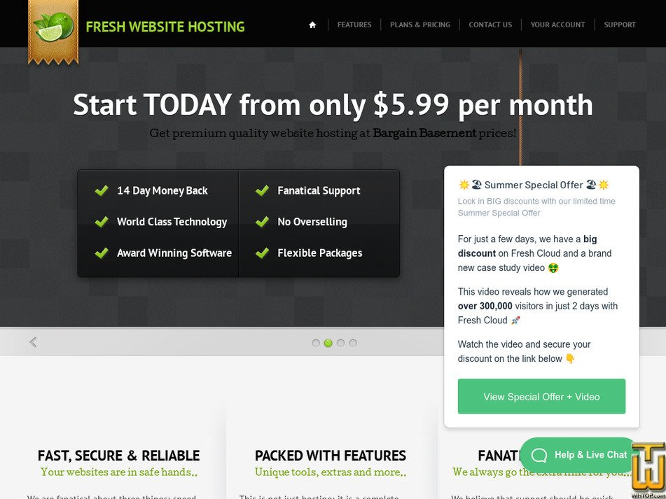 freshwebsitehosting.com Screenshot