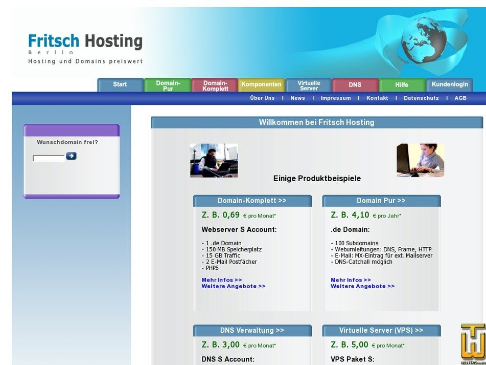 fritsch-hosting.de Screenshot