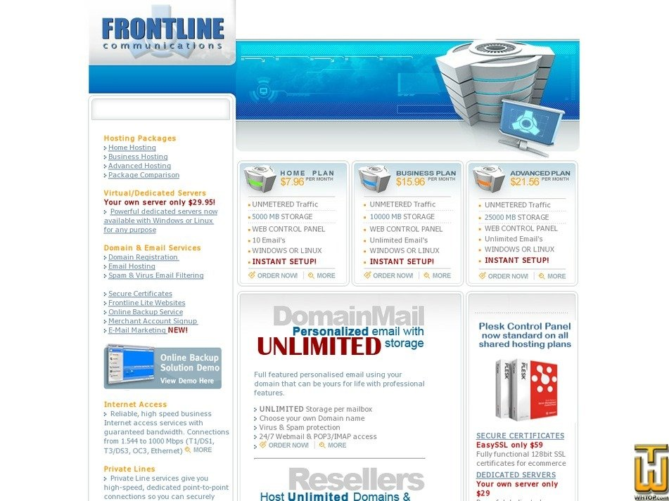 frontline.net Screenshot