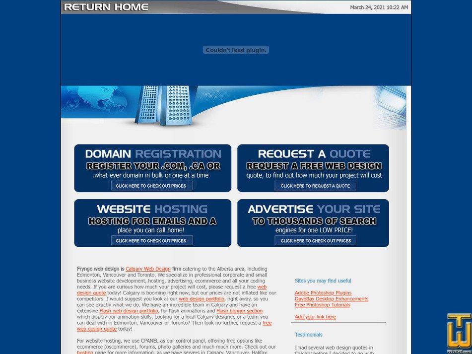 frynge.com Screenshot